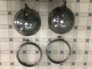 1930 1931 Model A Ford Headlight Buckets W rings Oem Pair