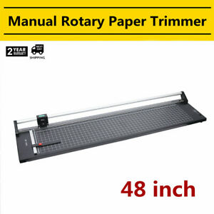 48 1300mm Manual Precision Rotary Paper Trimmer For Photo Paper Cutter Usa