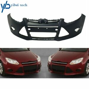For 2012 2013 2014 Ford Focus Sedan W Tow Hole Primered Front Bumper Cover