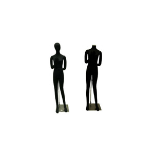 Adult Female Black Flexible Full Body Mannequin With Removable Head And Arms