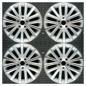 Set 2011 2013 2015 Volkswagen Vw Jetta Oem 17 Machined Silver Wheels Rims 69910