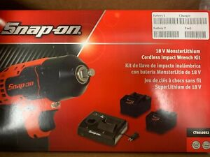 New Snap On18v Monstercordless 3 8 Impact Ct8810bk2 2 Batteries Charger