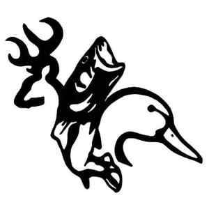 2 Duck Fish Deer New Buck Hunter Hunting Sportsman Truck Browning Vinyl Sticker