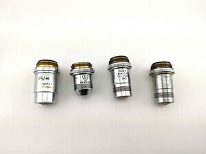 Lot 4 Spencer Microscope Objective 15 66 100x N a 1 25 Oil 1mm Attachment