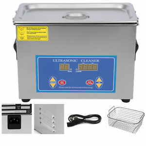 New 4 5l Ultrasonic Cleaner Stainless Steel Industry Heated Heater W timer