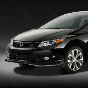 Fit 2012 Honda Civic 4dr sedan Jdm Black 3pcs Cs style Front Bumper Body Kit Lip