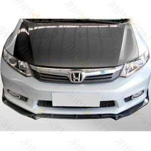 Fit 2012 Honda Civic 4dr Painted Black 3pcs Cs style Front Bumper Body Kit Lip