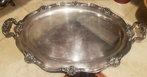 Large Vintage Reed Barton Silverplate Serving Tray 26