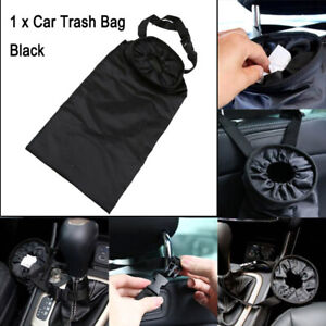 1x Auto Car Trash Can Garbage Hanging Bag Holder Container Back Seat Storage Bag