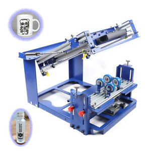 E Grade Curved Screen Printing Machine Manual Cylinder Bottle cup Press Printer