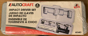 Autocraft Ac683 6 Piece Impact Driver Set New In Sealed Plastic
