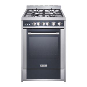 24 In 2 7 Cu Ft Gas Range With Convection In Stainless Steel