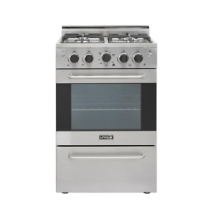 Prestige 24 In 2 3 Cu Ft Gas Convection Range Sealed 4 Burners In Stainless S
