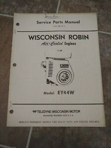 Wisconsin Robin Ey44w Engine Parts Catalog Manual Mm 344 a