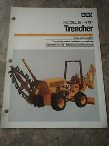 Case 25 4 Xp Trencher Advertising Brochure
