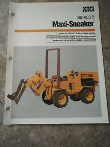 Case Series B Maxi sneaker Trencher Advertising Brochure