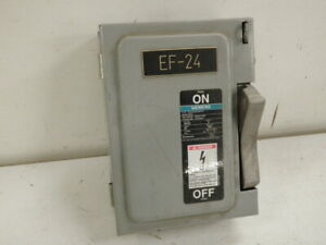 Siemens Ite 30 Amp Safety Switch Cat Nf351 600 Vac 3 Pole Disconnect Non Fused