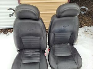 2002 Ford Mustang Front Bucket Seats Leather Black Driver Power