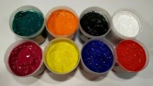 Starter Kit 8 Color Water Based Screen Printing Ink For Fabric Paper And Card
