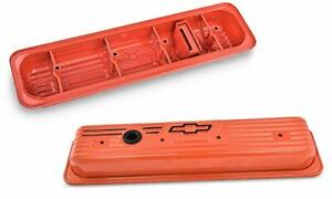Proform Sbc Center Bolt Valve Covers Orange 141 918