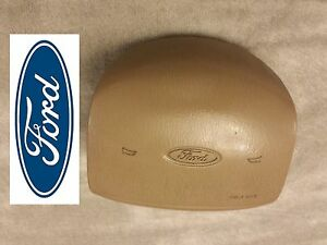 97 02 Ford F150 Expedition Driver Steering Wheel Alrbag Oem Air Tan Bag