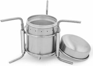 Portable Outdoor Mini Stainless Steel Alcohol Stove Burner For Hiking Camping