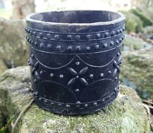 18th Century lead pot or caddy probably for tobacco decorated with rows of studs GBP 170.00