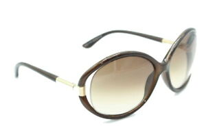 Tom Ford Tf 124 Sandrine 48f Brown Gold Gradient Authentic Sunglasses 60 15
