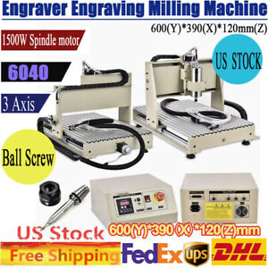 1500w 3 axis Cnc 6040 Router Engraving Engraver Diy 3d Milling Carving Machines