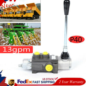 1 Spool Hydraulic Control Valve Double Acting 11 Gpm 3600 Psi Sae Ports 40l min