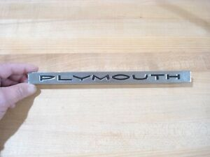 Nos Mopar 1962 Plymouth Fury Savoy Belvedere plymouth Hood Nameplate Nice