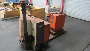 Used Nissan Electric Walkie Walk Behind Pallet Lift Truck 6000 Lbs Fr Charger