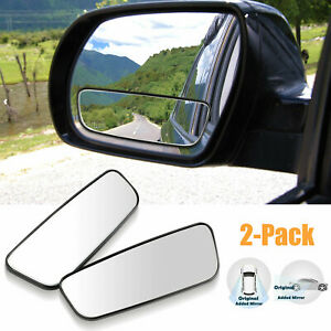 2x Car Adjustable Stick On Rear View Auxiliary Blind Spot Mirror Wide Angle