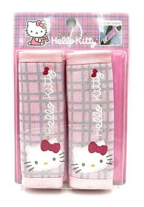 2 Pcs Official Sanrio Hello Kitty Car Seat Belt Shoulder Pads covers Us Seller