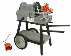 Reconditioned Ridgid 1822 i Auto Chuck Pipe Threading Machine And New 150a Cart
