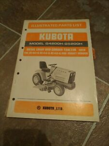 Kubota G4200h G5200h Lawn And Garden Tractors Illustrated Parts List Manual