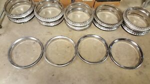 4 Oem 16 Factory Gm Chrome Trim Beauty Glamour Rings 88 98 15545384 Chevy Gmc