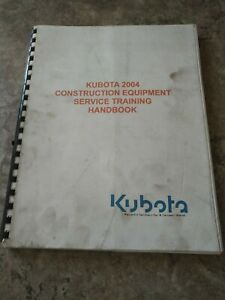 Kubota 2004 Construction Equipment Service Training Manual
