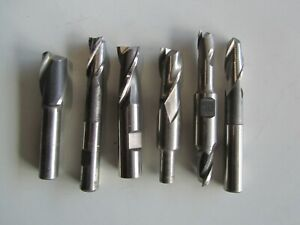 Lot Of 6 Mixed Sized Used End Mills All Usa Made