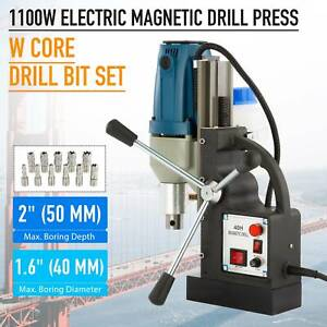 Electric Magnetic Drill Press Bores Up To 2 Depth Mag Drill 1 6 Dia1 5hp 1100w