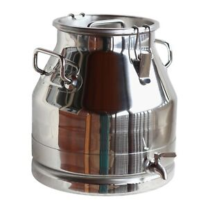 5 Gallon Milk Can 304 Stainless Steel Heavy Duty Sealed Lid With Dispenser