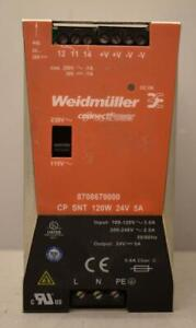 Weidmuller Connectpower 24v 5a Dc Power Supply 8708670000