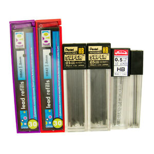 0 5mm Hb Mechanical Pencil Lead Refill Packs Mix Pentel Geddes Shine Stick Tubes