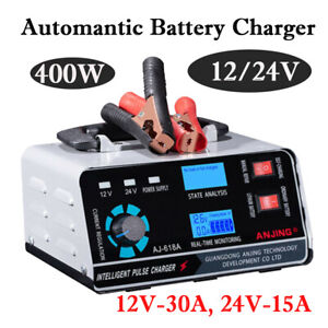 Heavy Duty Smart Car Battery Charger Automatic Pulse Repair Trickle 12v 24v Usa