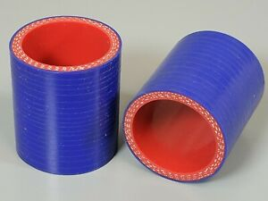 Pair 1 25 To 1 25 Inch Straight Silicone Hose Intercooler Coupler 2 Inch Long