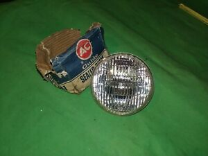 Vintage Guide Ac L4421 13v All Glass Beam Lamp Fog Light Bulb Nos