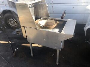 Wok Range 24 Natural Gas Preowned With Water Faucet 100 000 Btu