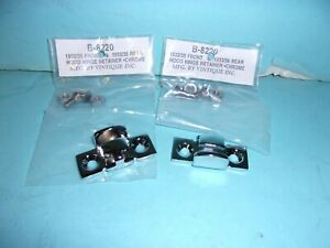 1933 1934 1935 Ford Center Hood Hinge Mounting Brackets Front And Rear Chrome