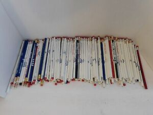 195 Wood Pencils With Erasers New Assorted Logos Lot School No 2 Lead Fre Ship