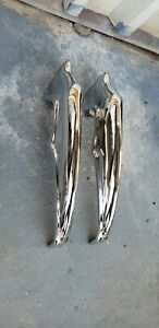 1966 Chevy Impala Caprice Rear Accessory Bumper Gaurds Replated W Hrdware